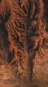 Bizarre rock textures shot from directly above, James Price Point, Australia